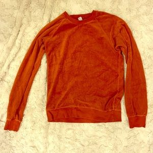 American apparel made in USA velour shirt
